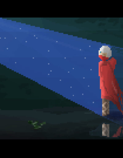 Pixel Guy Cave Scene Moon 4